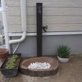 オンリーワンガーデン 木目アルミ立水栓